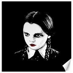 Wednesday Addams Canvas 16  X 16   by Valentinaart
