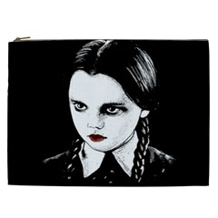 Wednesday Addams Cosmetic Bag (xxl)  by Valentinaart