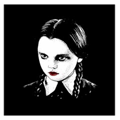 Wednesday Addams Large Satin Scarf (square)