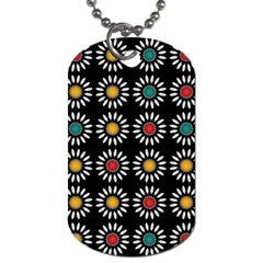 White Daisies Pattern Dog Tag (two Sides) by linceazul