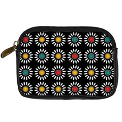 White Daisies Pattern Digital Camera Cases by linceazul