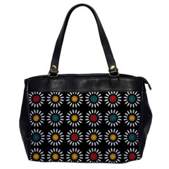 White Daisies Pattern Office Handbags by linceazul