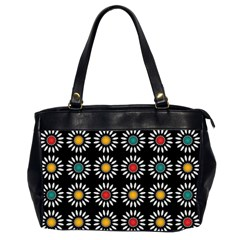 White Daisies Pattern Office Handbags (2 Sides)  by linceazul