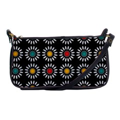 White Daisies Pattern Shoulder Clutch Bags by linceazul