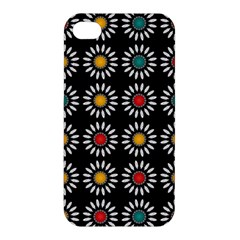 White Daisies Pattern Apple Iphone 4/4s Premium Hardshell Case by linceazul