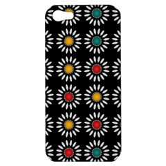 White Daisies Pattern Apple Iphone 5 Hardshell Case by linceazul