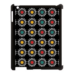White Daisies Pattern Apple Ipad 3/4 Case (black) by linceazul