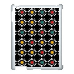 White Daisies Pattern Apple Ipad 3/4 Case (white) by linceazul