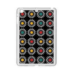 White Daisies Pattern Ipad Mini 2 Enamel Coated Cases by linceazul