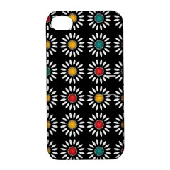 White Daisies Pattern Apple Iphone 4/4s Hardshell Case With Stand by linceazul
