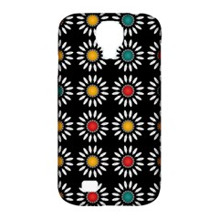 White Daisies Pattern Samsung Galaxy S4 Classic Hardshell Case (pc+silicone) by linceazul
