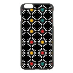White Daisies Pattern Apple Iphone 6 Plus/6s Plus Black Enamel Case by linceazul