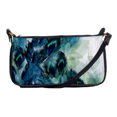 Flowers And Feathers Background Design Shoulder Clutch Bags by TastefulDesigns