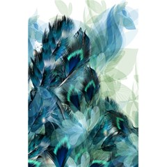 Flowers And Feathers Background Design 5 5  X 8 5  Notebooks by TastefulDesigns
