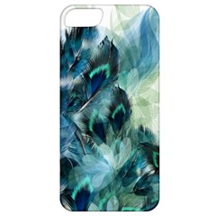 Flowers And Feathers Background Design Apple Iphone 5 Classic Hardshell Case by TastefulDesigns