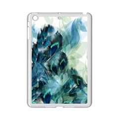 Flowers And Feathers Background Design Ipad Mini 2 Enamel Coated Cases by TastefulDesigns