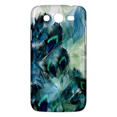 Flowers And Feathers Background Design Samsung Galaxy Mega 5 8 I9152 Hardshell Case  by TastefulDesigns