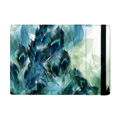 Flowers And Feathers Background Design Ipad Mini 2 Flip Cases by TastefulDesigns