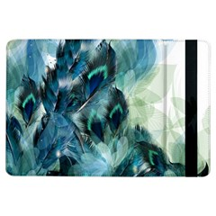 Flowers And Feathers Background Design Ipad Air Flip by TastefulDesigns