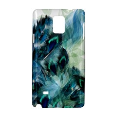 Flowers And Feathers Background Design Samsung Galaxy Note 4 Hardshell Case by TastefulDesigns