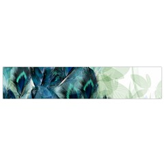 Flowers And Feathers Background Design Flano Scarf (small) by TastefulDesigns