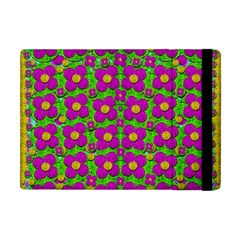 Bohemian Big Flower Of The Power In Rainbows Apple Ipad Mini Flip Case by pepitasart