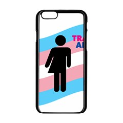 Transgender  Apple Iphone 6/6s Black Enamel Case by Valentinaart