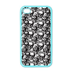 Skulls Pattern  Apple Iphone 4 Case (color) by Valentinaart