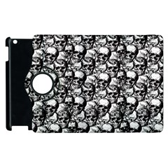 Skulls Pattern  Apple Ipad 2 Flip 360 Case