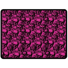 Skulls Pattern  Fleece Blanket (large)  by Valentinaart