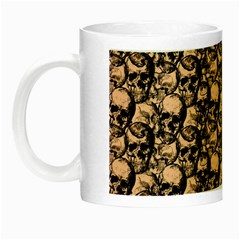 Skulls Pattern  Night Luminous Mugs by Valentinaart