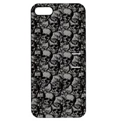 Skulls Pattern  Apple Iphone 5 Hardshell Case With Stand by Valentinaart