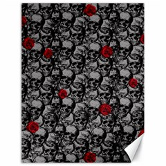Skulls And Roses Pattern  Canvas 18  X 24   by Valentinaart