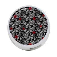 Skulls And Roses Pattern  4 Port Usb Hub (two Sides)
