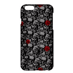Skulls And Roses Pattern  Apple Iphone 6 Plus/6s Plus Hardshell Case by Valentinaart