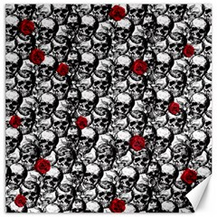 Skulls And Roses Pattern  Canvas 12  X 12