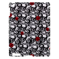 Skulls And Roses Pattern  Apple Ipad 3/4 Hardshell Case by Valentinaart