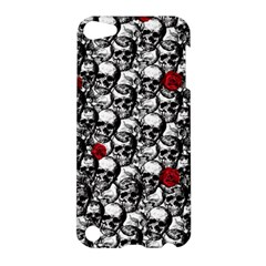 Skulls And Roses Pattern  Apple Ipod Touch 5 Hardshell Case by Valentinaart