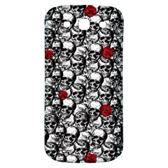 Skulls And Roses Pattern  Samsung Galaxy S3 S Iii Classic Hardshell Back Case by Valentinaart