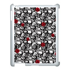Skulls And Roses Pattern  Apple Ipad 3/4 Case (white)