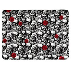 Skulls And Roses Pattern  Samsung Galaxy Tab 7  P1000 Flip Case by Valentinaart