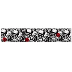Skulls And Roses Pattern  Flano Scarf (large) by Valentinaart