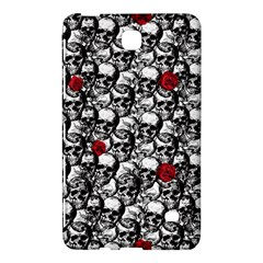 Skulls And Roses Pattern  Samsung Galaxy Tab 4 (8 ) Hardshell Case  by Valentinaart