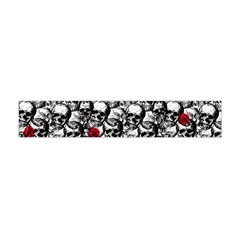 Skulls And Roses Pattern  Flano Scarf (mini)