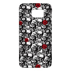 Skulls And Roses Pattern  Galaxy S6 by Valentinaart
