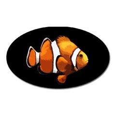 Clown Fish Oval Magnet by Valentinaart