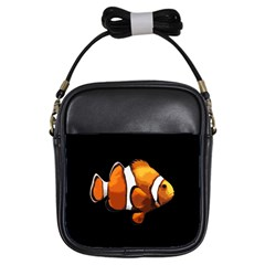 Clown Fish Girls Sling Bags by Valentinaart