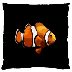 Clown Fish Large Flano Cushion Case (one Side)