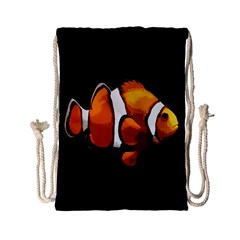 Clown Fish Drawstring Bag (small) by Valentinaart