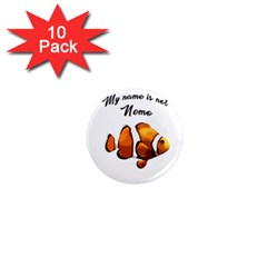 Clown Fish 1  Mini Magnet (10 Pack)  by Valentinaart
